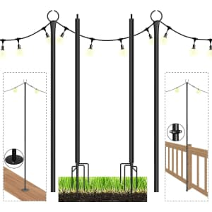 Espird 9-Foot String Light Poles for $68