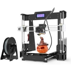 Anet A8 3D Printer, Self-Assembly 0.4mm Nozzle Aluminium Alloy Hotbed 2004 LCD Desktop 3D Printer for $159