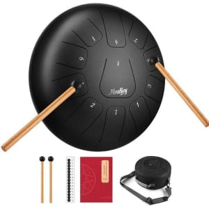 Moukey D Major Steel Tongue Drum Kit for $63