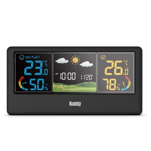 Raddy Indoor/Outdoor Wireless Weather Station for $27