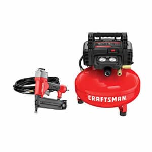 Craftsman 6-Gallon Portable Electric Pancake Air Compressor w/ Brad Nailer for $149 in cart
