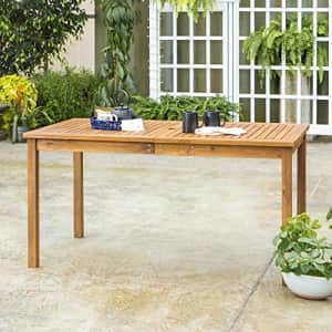 Walker Edison Furniture Company AZWSDTBR 6 Person Outdoor Patio Wood Rectangle Dining Table All for $275