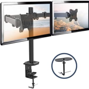 """H Huanuoav 13"""" to 27"""" Dual Monitor Stand for $12"""