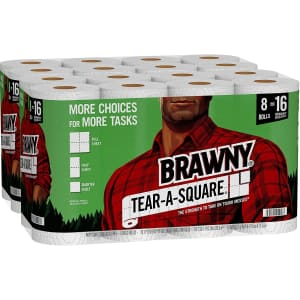 Brawny Tear-A-Square Paper Towel 16-Pack for $30