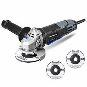 Hammerhead 6-Amp 4-1/2 Inch Angle Grinder with 3 pcs Grinding Wheel HAAG060 for $35