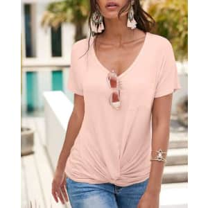 Venus Women's Twisted Knot Detail Tees: 3 for $55