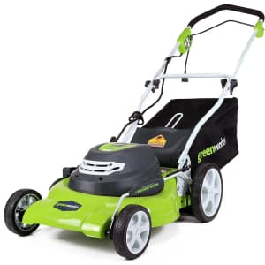 """Greenworks 20"""" 12A 3-in-1 Electric Lawn Mower for $191"""