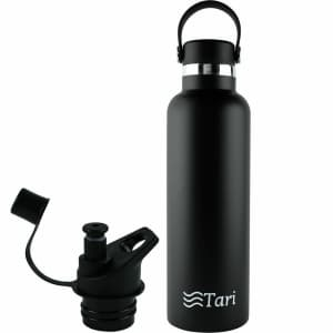 Tari Stainless Steel Wide Mouth 25-Oz. Bottle for $9