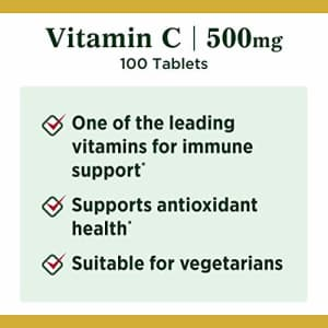 Vitamin C by Nature's Bounty, Vitamin Supplement, Supports Immune Health, 500mg, 100 Tablets for $10