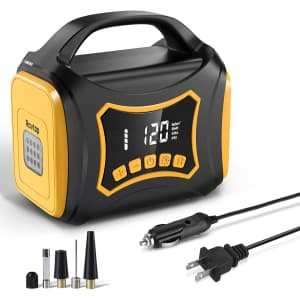 Rovtop Portable Tire Inflator Air Compressor for $70