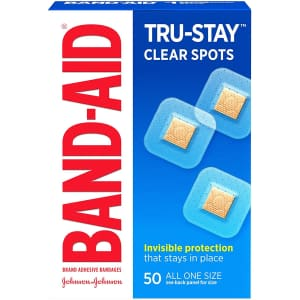 Band-Aid Tru-Stay 50-Pack Clear Spot Bandages for $1.61 w/ Sub & Save