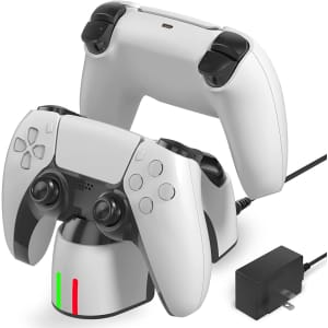 Binbok Wireless Charging Station for PS5 DualSense Controller for $5