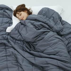 Weighted Idea 15-lb. Twin Weighted Blanket for $26