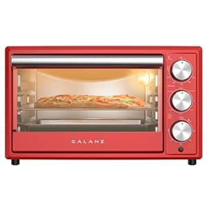Galanz GRH1209RDRM151 Retro Toaster Oven True Convection, Indicator Light, 8 Cooking Programs, for $72