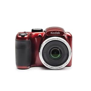 """Kodak PIXPRO Astro Zoom AZ252-RD 16MP Digital Camera with 25X Optical Zoom and 3"""" LCD (Red) for $128"""