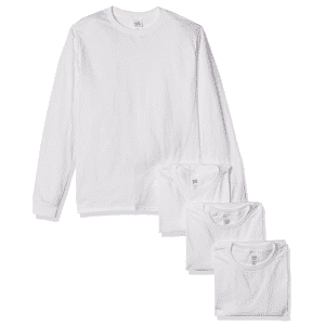 Hanes Men's ComfortSoft Long-Sleeve T-Shirt 4-Pack from $16