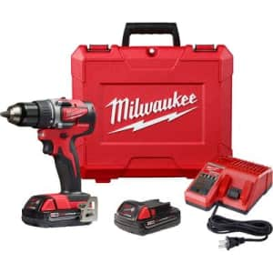 """Milwaukee 18V 1/2"""" Cordless Compact Drill Kit for $149 in-cart"""