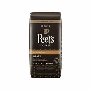 Peet's Coffee Single Origin Brazil, Medium Roast Ground Coffee, 20 oz for $13