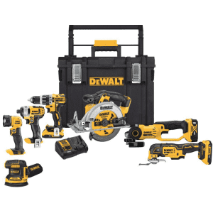 DeWalt 20-Volt Max Lithium-Ion Cordless 7-Tool Combo Kit with ToughSystem for $699