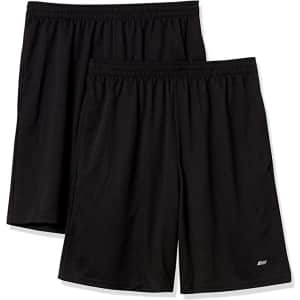 Amazon Essentials Men's Performance Shorts 2-Pack for $19