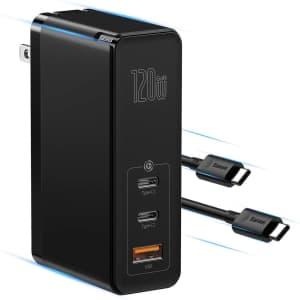 Baseus 120W GaN USB-C Wall Charger for $30