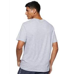 A|X Armani Exchange Men's Short Sleeve Micro Logo Pima Cotton Jersey T-Shirt, Brooks B09b Heather for $35