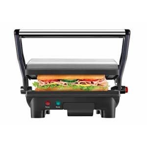 Chefman Electric Panini Press Grill and Gourmet Sandwich Maker w/ Non-Stick Coated Plates, Opens for $30