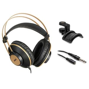 AKG K92 Closed-Back Studio Headphones w/Holder and Extension Cable for $65