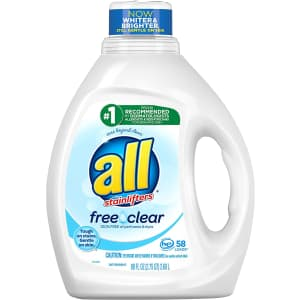 All Free Clear 88-oz. Liquid Laundry Detergent for $4.54 via Sub & Save