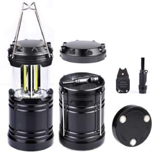 LED Camping Lantern w/ Fire Starter for $8