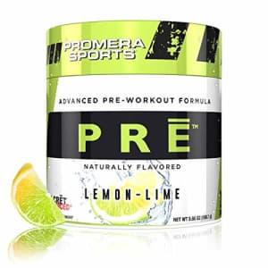 Promera Sports Advanced Pre-Workout Formula for Endurance, Energy, Focus, Lemon Lime, 20 Servings for $25