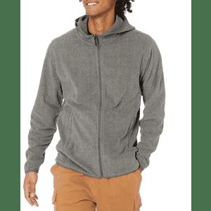 Amazon Essentials Men's Hooded Fleece Jacket for $19