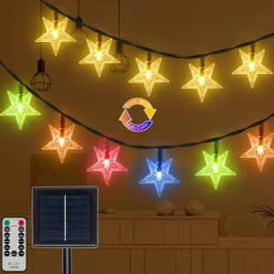 Ollny 25-Ft Solar Star String Lights for $19