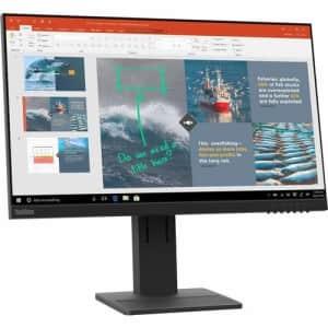 """Lenovo ThinkVision E24-20 23.8"""" Full HD WLED LCD Monitor - 16:9 - Raven Black - 24"""" Class - for $247"""