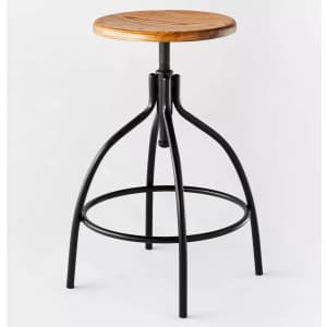 Threshold designed with Studio McGee Industrial Adjustable Stool for $55
