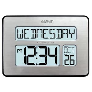 La Crosse Technology Backlight Atomic Full Calendar Clock for $29