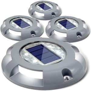 Siedinlar Solar Pathway Lights 4-Pack for $30