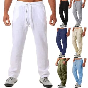 Men's Casual Yoga Pants With Pockets: 2 for $14