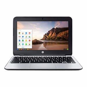 HP Chromebook 11 G3 11.6-inch Intel Celeron N2840 2GB 16GB SSD Storage Google Chrome OS Notebook for $124