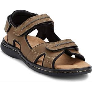 Dockers Mens Newpage Sporty Outdoor Sandal Shoe,Dark Tan, 7 M US for $40