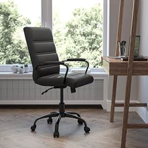 Flash Furniture Mid-Back Desk Chair - Black LeatherSoft Executive Swivel Office Chair with Black for $239
