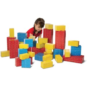 Melissa & Doug Jumbo Cardboard Blocks 40-Piece Set for $36