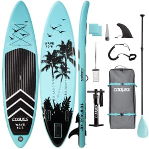 Cooyes 10.5-Foot Inflatable Stand Up Paddle Board for $210