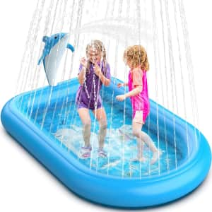 NewLove Dolphin Inflatable Sprinkler Splash Pad for $20