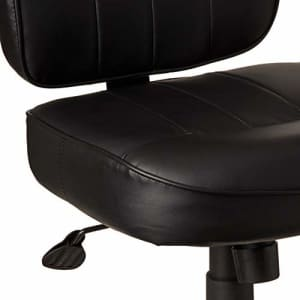 Boss Office Products Leather Adjustable Task Chair Without Arms, Black, B563 for $179