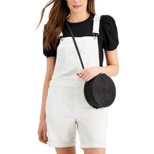 Style & Co. Women's Short Denim Overalls for $16