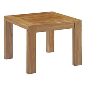 Modway Upland Teak Wood Outdoor Patio Side End Table in Natural for $204