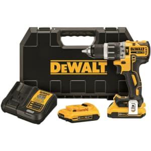 "DeWalt 20V Max XR Li-ion 1/2"" 2-Speed Hammer Drill Kit for $187"