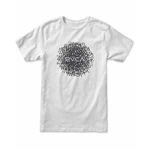 RVCA Men's Motors Short Sleeve Crew Neck T-Shirt, White, M for $30