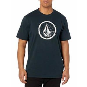 Volcom Men's Ramp Stone Short Sleeve T-Shirt, Black, Large for $26